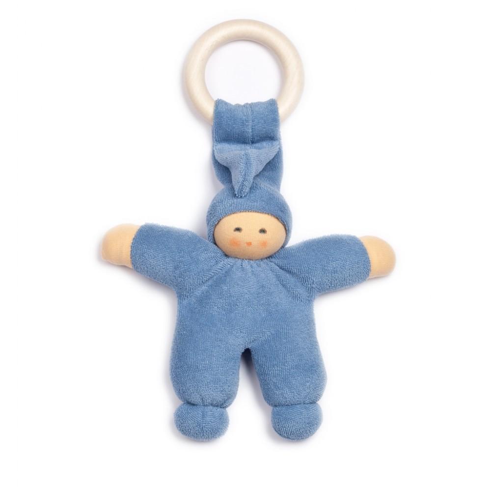 Nanchen - dukke 17 cm. - blå m. ring