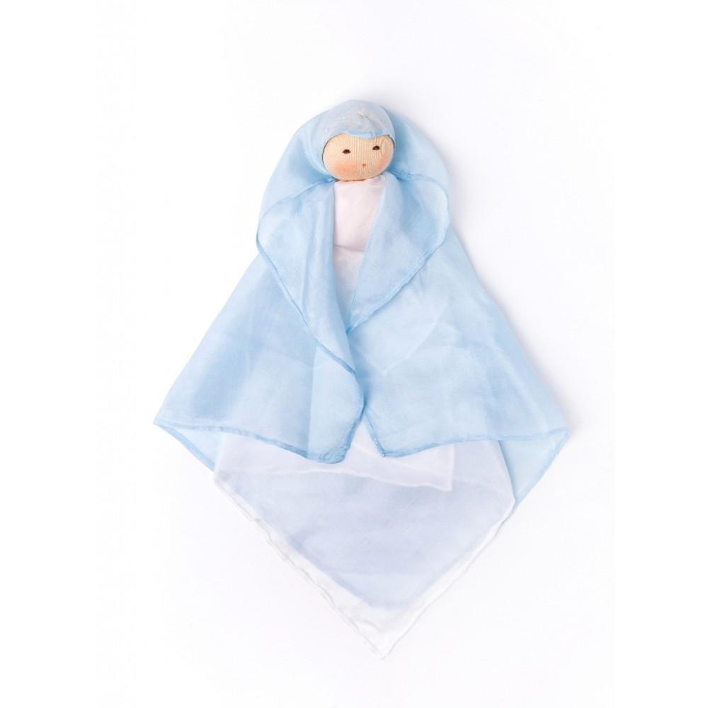 Nanchen - silkedukke - blå
