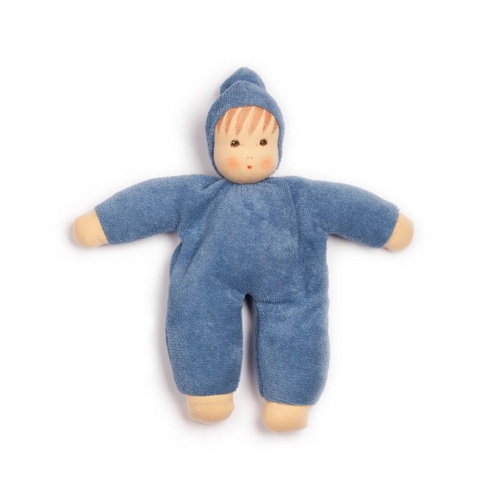 Nanchen - dukke 24 cm. - blå