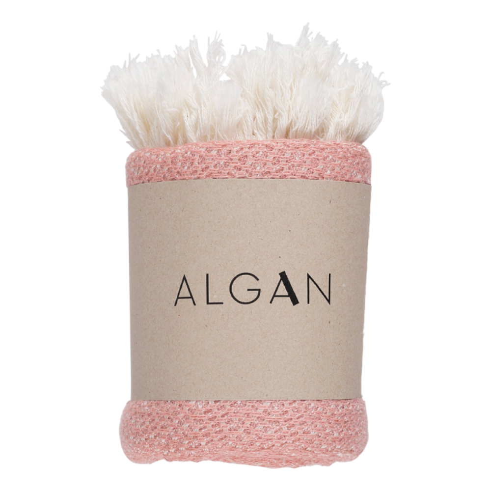 Algan - Nane gæstehåndklæde - 65x100 cm. - gammelrosa