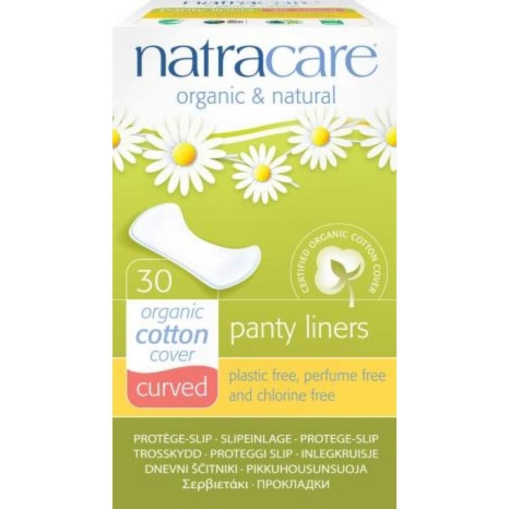 Natracare - trusseindlæg - 30 stk. - 'curved' - økologisk bomuld