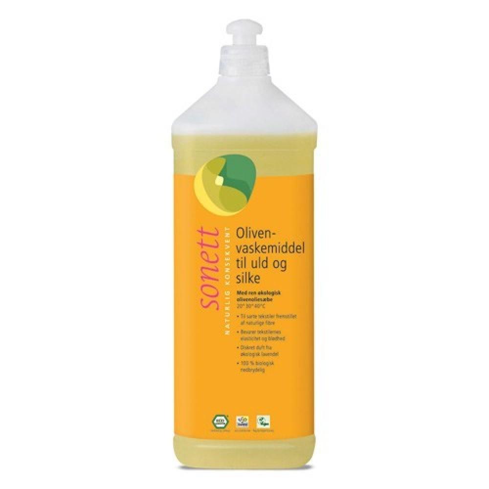 Sonett - oliven vaskemiddel til uld & silke - 1 liter