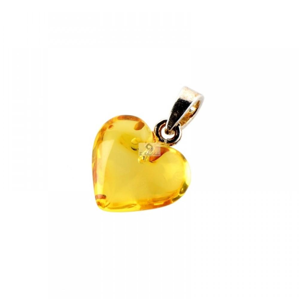 Rav vedhæng - hjerte - honey