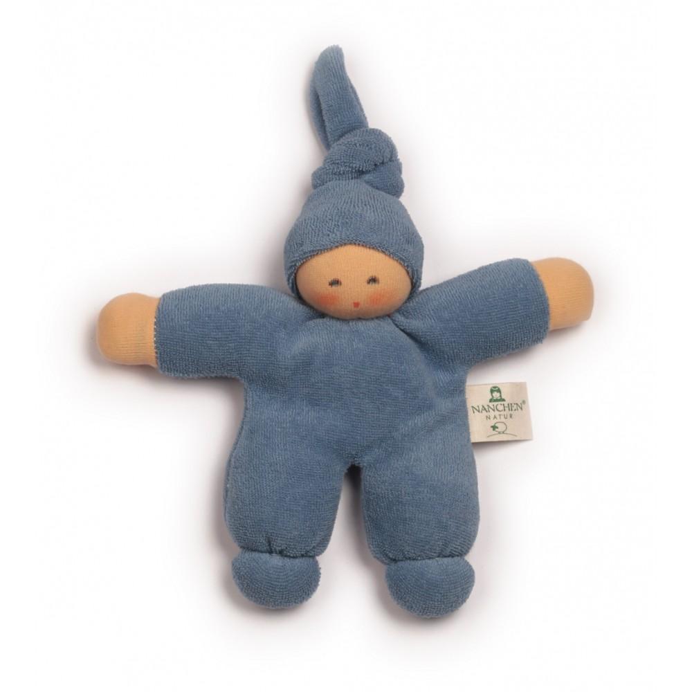 Nanchen - dukke 17 cm. - blå