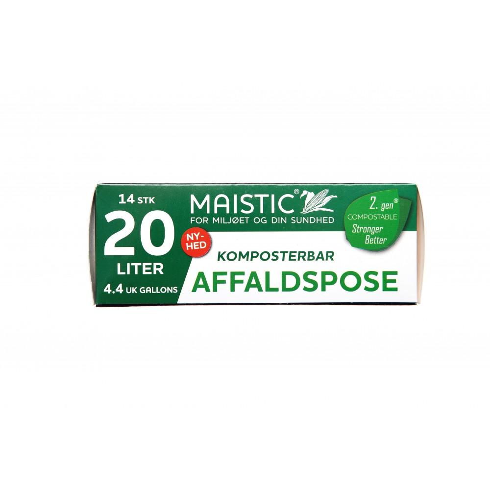 Maistic Bio Group - plastfri skraldepose - 20 liter - 14 stk.