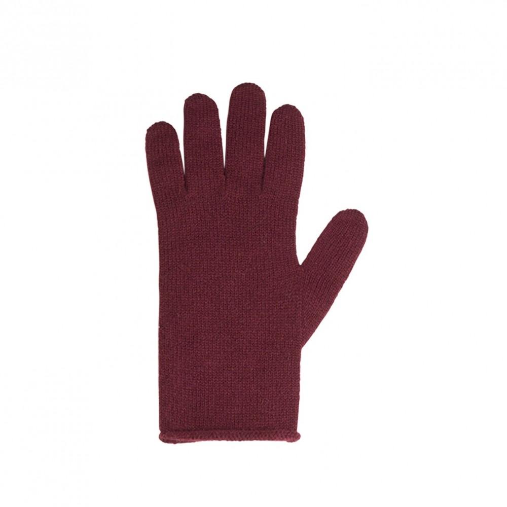 Pure Pure - fingerhandsker - merinould & kashmir - bordeaux