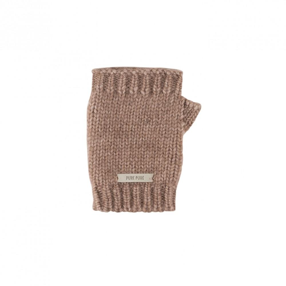 Pure Pure - håndledsvarmer - alpaca/bomuld/merino uld - rose tan