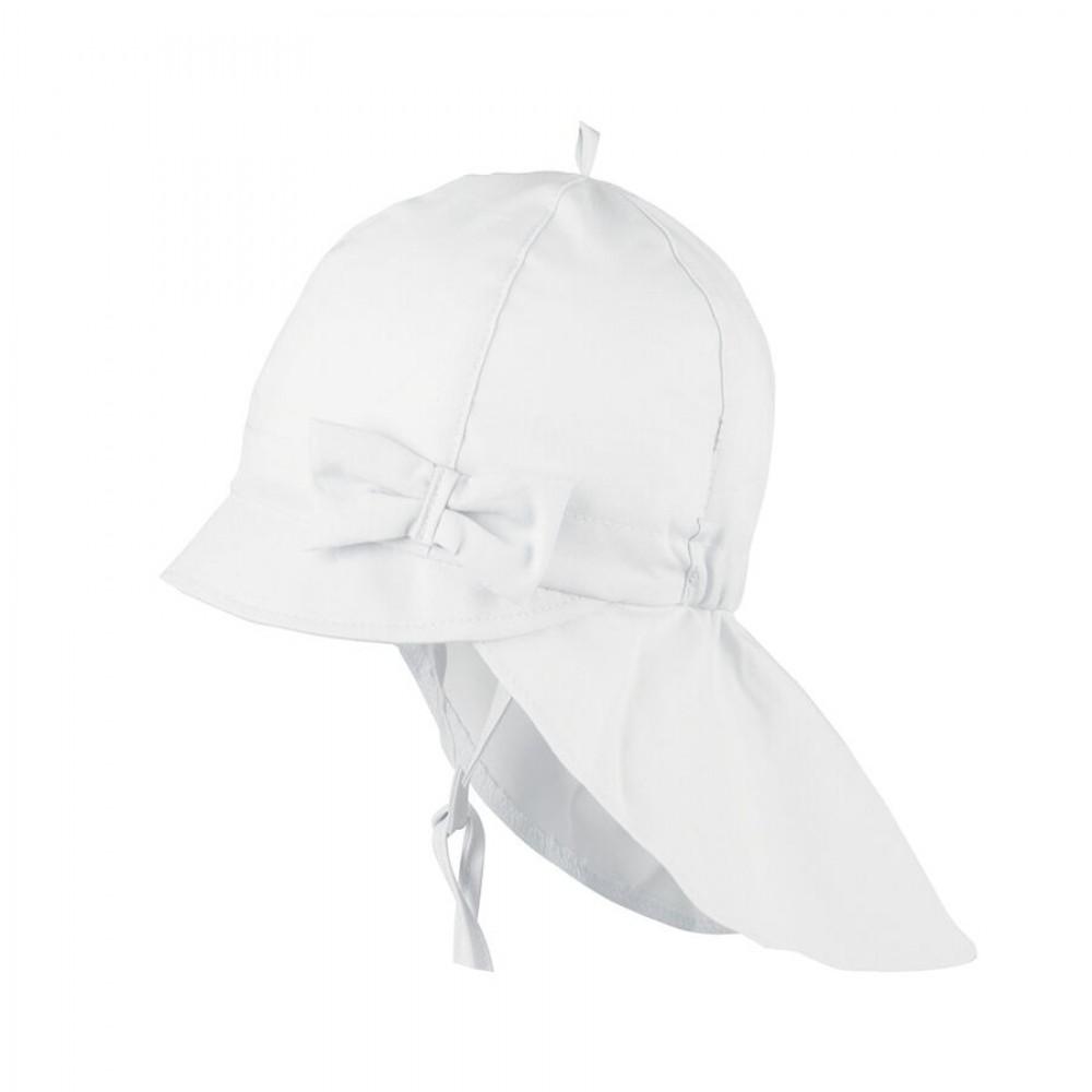 Pure Pure - legionær solhat til baby - hvid