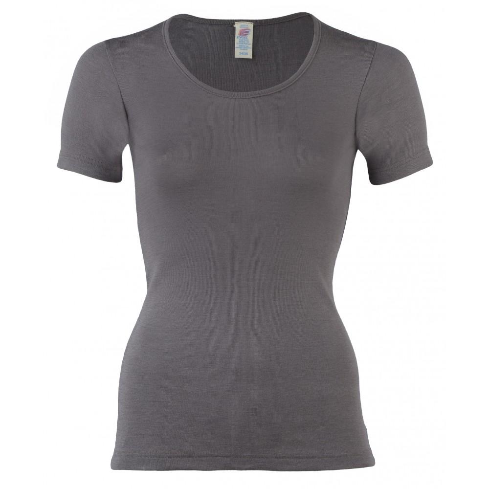 Engel - dame kortærmet t-shirt - uld & silke - taupe