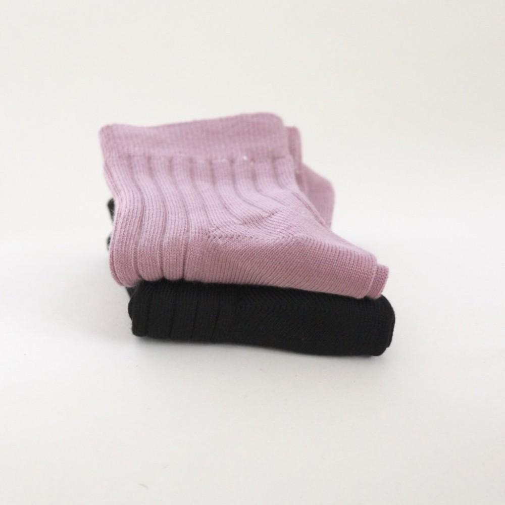 Snork Copenhagen - strømper 2-pak - sort & støvet rosa