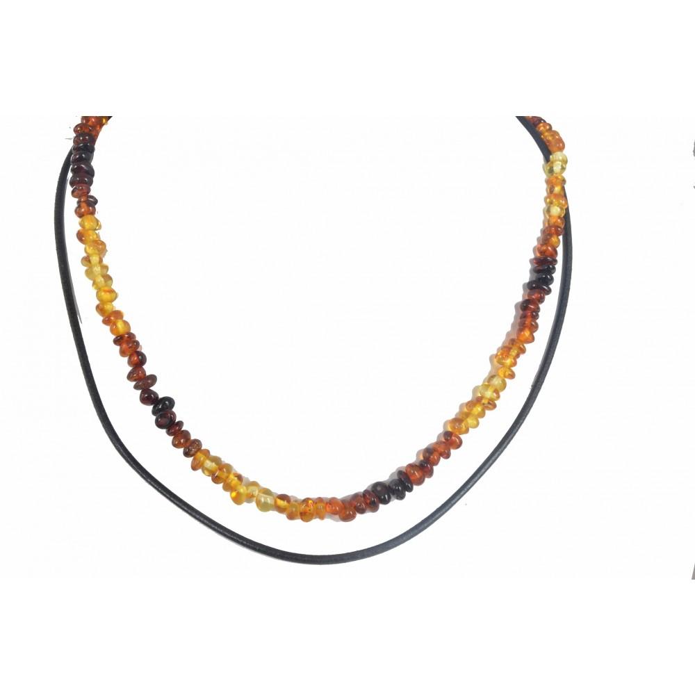 rav halskæde & læderhalskæde - større børn & voksne