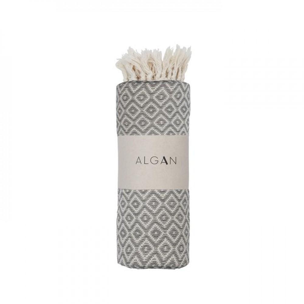 Algan - Sumak badelagen - 100x180 cm. - grey