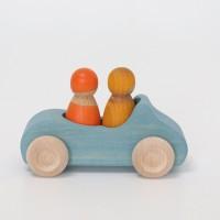 Grimms - blå bil med 2 passagerer