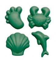 Funkit World - sandforme - 4 stk. - mørkegrøn