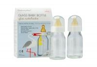 Natursutten® - glas sutteflaske 110 ml.- 2-pak