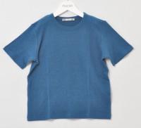 Alkena - kortærmet bluse - større børn- bourette silke - petroleum