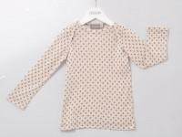 Alkena - langærmet bluse - bourette silke - natur m. stjerner