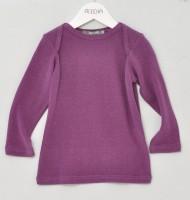 Alkena - langærmet bluse - bourette silke - mørk lilla