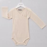 Alkena - langærmet kimonobody - bourette silke - natur