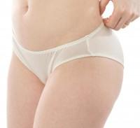 Alkena - trusser - økologisk silke - hvid