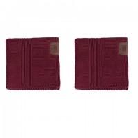 By Lohn - all round cloth - 25x25 cm. - 2 stk. - maroon