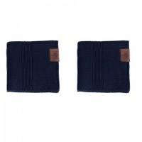 By Lohn - all round cloth - 30x30 cm. - 2 stk. - navy