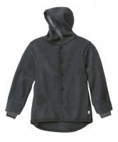 DISANA | uldjakke | kogt uld | antracitgrå