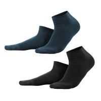 Living Crafts - 2-pak unisex sneakers strømper - sort og marine