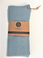 By Lohn - all round towel - 35x50 cm. - 1 stk. - powder blue