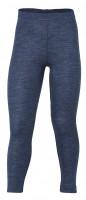 Engel - leggings - uld - blå melange