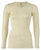 Engel - dame langærmet t-shirt - uld - natur