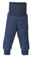 Engel - bukser i økologisk uldfleece - blå melange