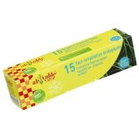 Ah! Table! - frysepose - bioplast - 15 stk. á 6 L