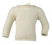 Engel - baby slå-om bluse - uld & silke - natur