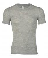 Engel - herre kortærmet t-shirt - uld & silke - grå