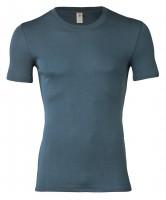 Engel - herre kortærmet t-shirt - uld & silke - atlantic