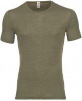 Engel - herre kortærmet t-shirt - uld & silke - olive