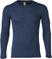 Engel - herre langærmet t-shirt - uld & silke - marineblå