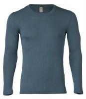 Engel - herre langærmet t-shirt - uld & silke - atlantic