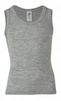 Engel - økologisk uld & silke undertrøje - grå