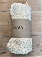 Algan - Ahududu gæstehåndklæde - 45x100 cm. - råhvid