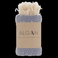 Algan - Elmas gæstehåndklæde - 65x100 cm. - navy
