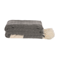 Algan - Elmas plaid/sengetæppe - 200x240 cm. - black