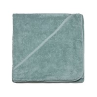 Bo Weevil - tykt badehåndklæde med hætte - 100x100 cm. - mineral green