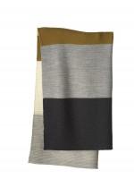 DISANA - babytæppe - økologisk uld - gold/grey stribet