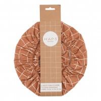 Haps Nordic - 3-pak cotton covers - terracotta check