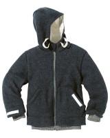 DISANA - helårsjakke i uld - antracit - fåes helt op til str. 152