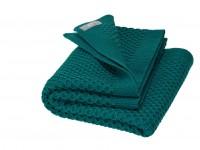 DISANA - babytæppe økologisk uld - honeycomb - pacific