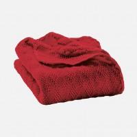 DISANA - babytæppe - økologisk uld - bordeaux