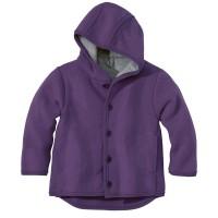 DISANA | uldjakke | kogt uld |lilla - ældre udgave